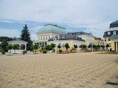 spa Colonnade Frantiskovy lazne. West Bohemia, Czech republic