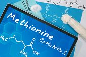 Tablet with the chemical formula of  Methionine
