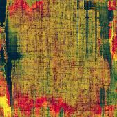 Abstract grunge background with retro design elements and different color patterns: red (orange); yellow (beige); brown; green; pink