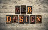 Web Design Wooden Letterpress Concept