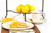 Tea And Scone With Lemon Curd