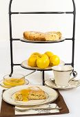 Tea And Scones With Lemon Curd