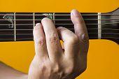 F chord on guitar