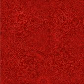 Red Doodle Background