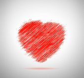 Greeting Red Heartshape In Original Version