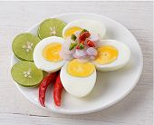 Boiled Egg Spicy Salad, Thai Food