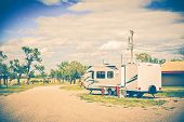 image of trailer park  - Camping in South Dakota - JPG