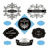 Set Of Wedding Frames And Labels