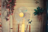 Electric Fan In Garden