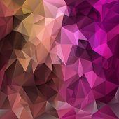 Vector Polygonal Background Pattern - Triangular Design In Expressive