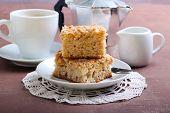 Squares Of Apple Coffee Cake