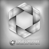 Design Hexagon On Grey
