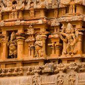 Fragment Of Bas-relief Hindu Brihadishvara Temple, India, Tamil Nadu, Thanjavour, Closeup