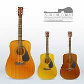 Set of acoustic guitars