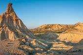 image of unique landscape  - Unusual and unique landscape at Bardenas reales Navarra Spain - JPG