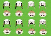 Male And Female Face Emoji
