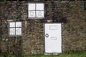 Cartoon Windows And Door