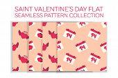 Valentine day flat icon set