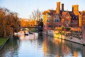 River Cam and tourist's boats, Cambridge