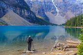 Photographer at Moraine Lake