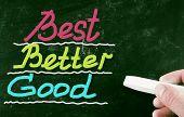 Best Better Good Concept