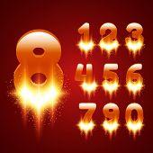 Glowing Numbers Set
