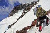 Climbers on Mount Rainier, Washington USA