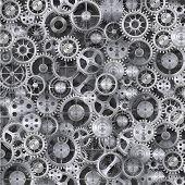 Metal realistic cogwheel background