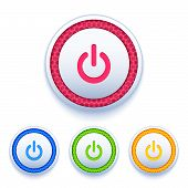 Power buttons icon set