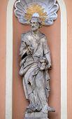 GRAZ, AUSTRIA - JANUARY 10, 2015: Saint Joseph on the portal of Dreifaltigkeitskirche ( Holy Trinity ) church in Graz, Styria, Austria on January 10, 2015.