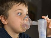 Child With Electric Nebulizer