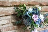 Vintage Bouquet In Blue