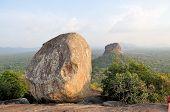 Sigiriya Rock Fortress view from Pidurangala