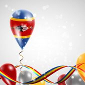 Flag of Swaziland on balloon