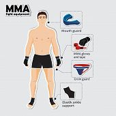 Sport equipment for mixed martial arts