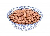 Pinto Beans In A Blue And White China Bowl