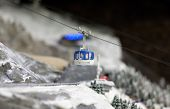 Cabin Lift At Ski Resort
