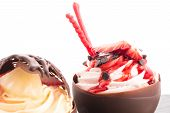 Strawberry And Chocolate Pastry Mousse