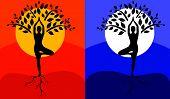 Tree Pose Yoga.eps