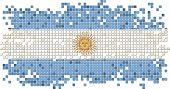 Argentinean grunge tile flag. Vector illustration