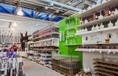 Interior Of The Ikea Samara Store. Ikea Is The World's Largest Furniture Retailer, Founded In Sweden