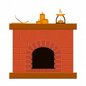 Set of templates with fireplaces