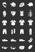 Vector Set Of Icons Sports Clothes
