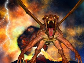 image of doomsday  - Dinosaur doomsday came about at night - JPG
