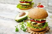 picture of millet  - spicy vegan curry burgers with millet chickpeas and herbs - JPG