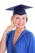 Woman In Graduation Cap