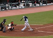 Brewers Prince Fielder Takes A Big Swing With Giants Buster Posey Catching