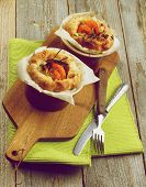 pic of leek  - Puff Pastry Snacks with Roasted Shrimps Leek and Cheese Oven - JPG