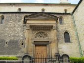 pic of chapels  - a small garden near the chapel in Prague in Roman style  - JPG