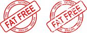 picture of free-trade  - stamp sticke with word fat free in vector format very easy to edit - JPG